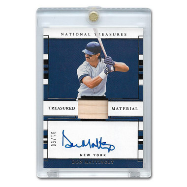 Don Mattingly Autographed Card 2020 Panini National Treasures Treasured Materials Signatures Ltd Ed of 50