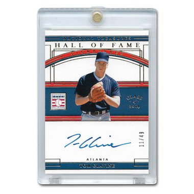 Tom Glavine Autographed Card 2020 Panini National Treasures HOF Signatures Ltd Ed of 49