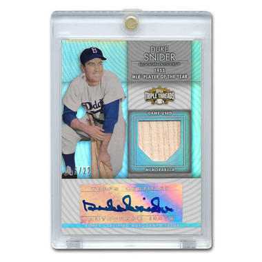 Duke Snider Autographed Card 2012 Topps Triple Threads Unity Silver Ltd Ed of 22