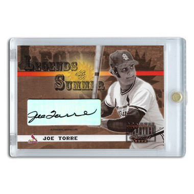 Joe Torre Autographed Card 2003 Donruss Signature Legends of Summer