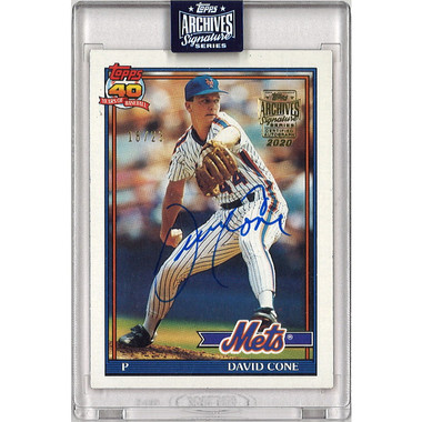 David Cone Autographed Card 2020 Topps Archives Signature Series Ltd Ed of 23