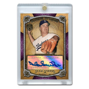 Duke Snider Autographed Card 2013 Topps Supreme Stylings Purple Ltd Ed of 25