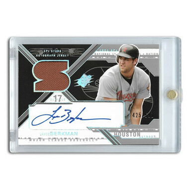 Lance Berkman Autographed Card 2003 Upper Deck SPx Stars Ltd Ed of 599