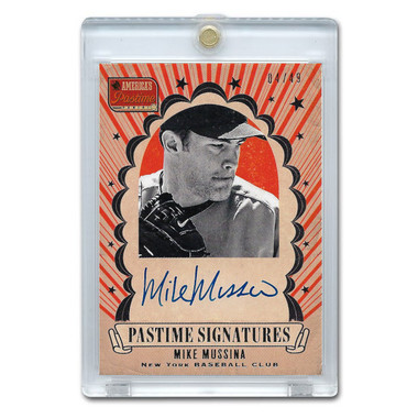 Mike Mussina Autographed Card 2013 America's Pastime Signatures Ltd Ed of 49