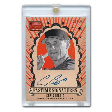 Craig Biggio Autographed Card 2013 America's Pastime Signatures Ltd Ed of 10