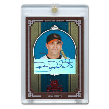 Brian Roberts Autographed Card 2002 Donruss Diamond Kings Crowning Moment Ltd Ed of 100