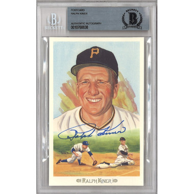 Ralph Kiner Autographed Perez-Steele Celebration Series Postcard # 24 (Beckett)
