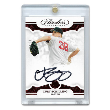 Curt Schilling Autographed Card 2020 Panini Flawless FA-CS Ltd Ed of 20