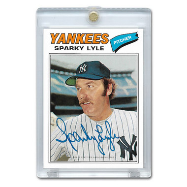 Sparky Lyle Autographed Card 2016 Topps Archives 65th Anniversary # A65-SL