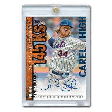 Noah Syndergaard Autographed Card 2015 Topps Career High # NS