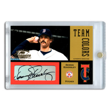 Dennis Eckerlsey Autographed Card 2004 Donruss Classics Team Colors Ltd Ed of 50