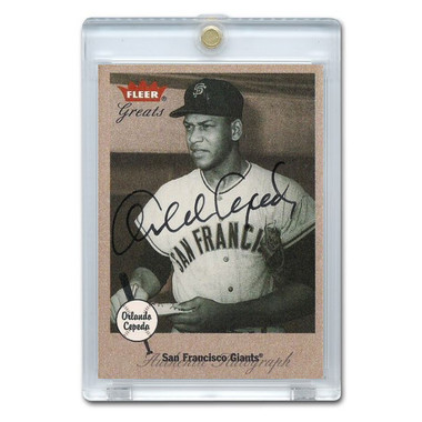 Orlando Cepeda Autographed Card 2002 Fleer Greats of the Game