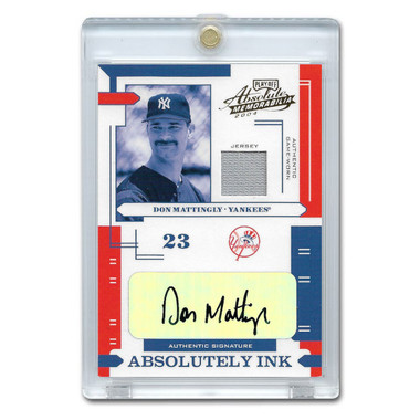 Don Mattingly Autographed Card 2004 Playoff Absolute Ink Ltd Ed of 50
