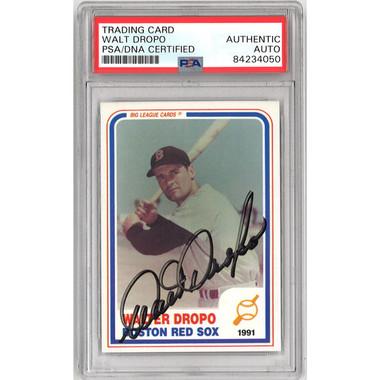 Walt Dropo Autographed Card 1985 Big League Cards # 136 (PSA)