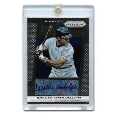 Willie Randolph Autographed Card 2013 Panini Prizm # WE