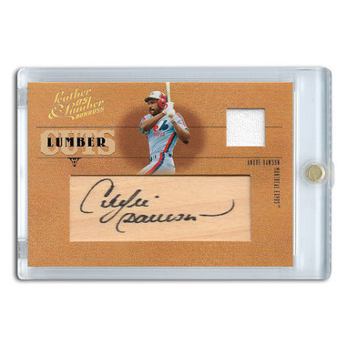 Andre Dawson Autographed Card 2005 Donruss Leather & Lumber Cuts Ltd Ed of 128