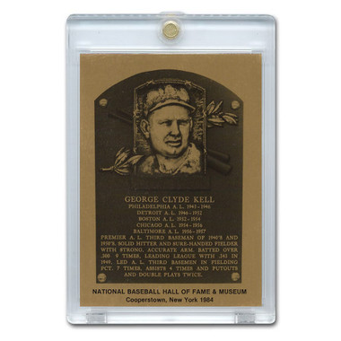 George Kell 1984 Hall of Fame Metallic Plaque Card