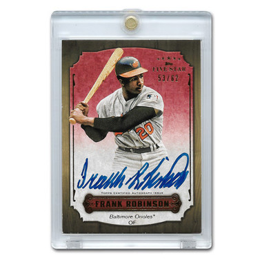 Frank Robinson Autographed Card 2012 Topps 5 Star Ltd Ed of 62