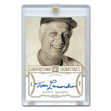 Tommy Lasorda Autographed Card 2013 Panini Cooperstown Signatures Ltd Ed 150