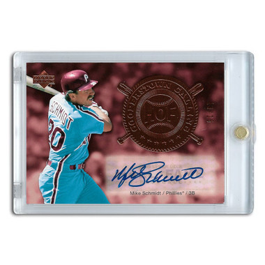 Mike Schmidt Autographed Card 2005 Upper Deck Cooperstown Calling Ltd Ed of 25