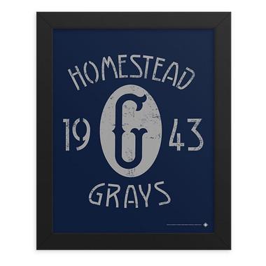 Teambrown Homestead Grays 1943 Champions Artwork Framed 8 x 10 Print