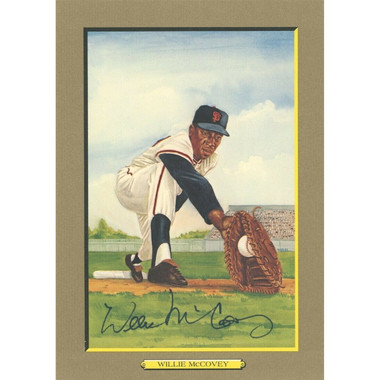 Willie McCovey Autographed Perez-Steele Great Moments Jumbo Postcard # 22 (PSA-85)
