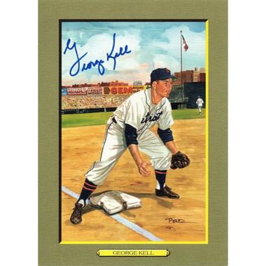 George Kell Autographed Perez-Steele Great Moments Jumbo Postcard # 59 (Beckett-65)