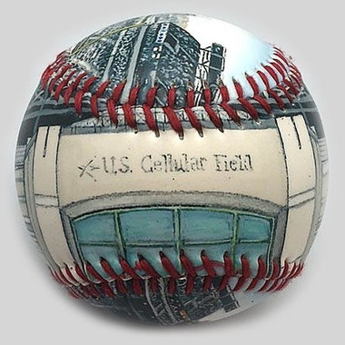 US Cellular Field Unforgettaballs Limited Commemorative Baseball with Lucite Gift Box