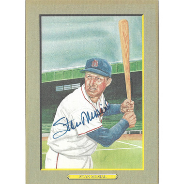 Stan Musial Autographed Perez-Steele Great Moments Jumbo Postcard # 11 (JSA-94)