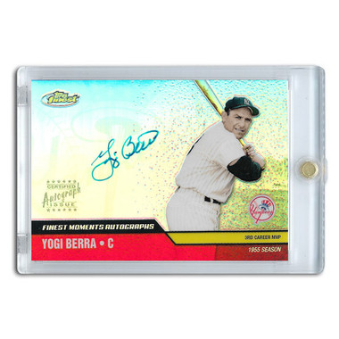 Yogi Berra Autographed Card 2002 Topps Finest Moments # FMA-YB