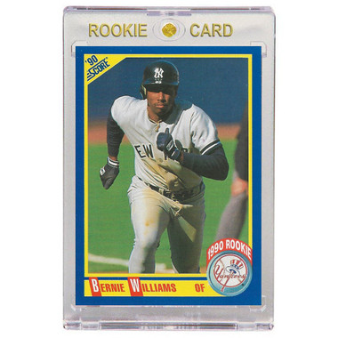 Bernie Williams New York Yankees 1990 Score # 619 Rookie Card