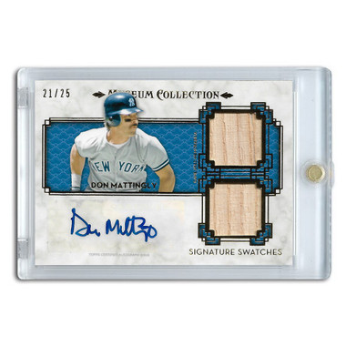Don Mattingly Autographed Card 2014 Topps Museum Collection Signature Swatches Ltd Ed of 25