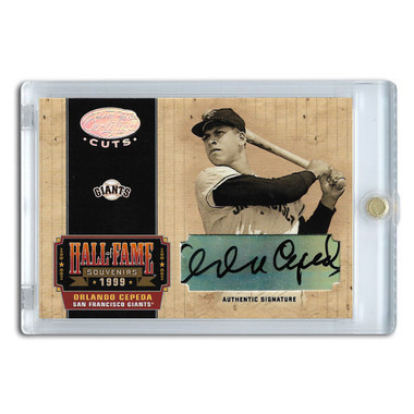 Orlando Cepeda Autographed Card 2004 Leaf Certified HOF Souvenirs Ltd Ed of 50