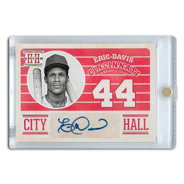Eric Davis Autographed Card 2013 Panini Hometown Heroes City Hall # CHED