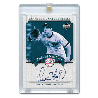 Paul O'Neill Autographed Card 2003 Upper Deck Yankees Signature Series #PN-PO