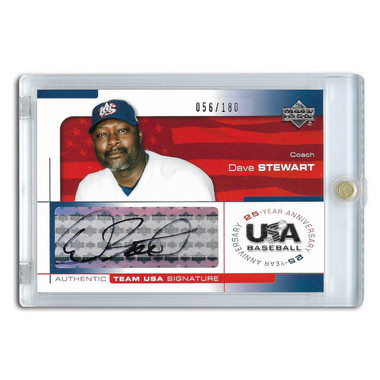 Dave Stewart Autographed Card 2004 Upper Deck Team USA Ltd Ed of 180