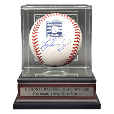 Ken Griffey Jr. Autographed Hall of Fame Logo Baseball with HOF Case (TriStar)