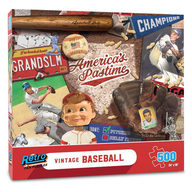 Vintage Retro Series Baseball 500 Piece Jigsaw Puzzle