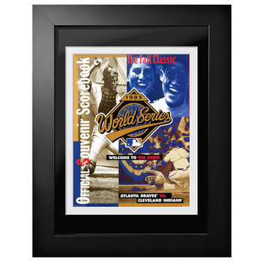 1995 World Series Program Cover 18 x 14 Framed Print