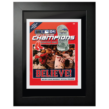 2004 World Series Program Cover 18 x 14 Framed Print
