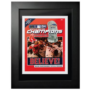 2004 World Series Program Cover 18 x 14 Framed Print
