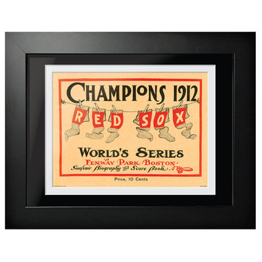 1912 World Series Program Cover 18 x 14 Framed Print