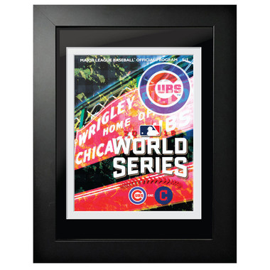2016 World Series Program Cover 18 x 14 Framed Print