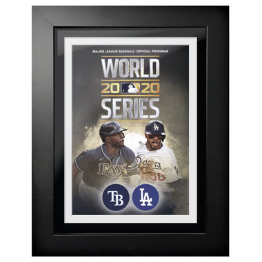 2020 World Series Program Cover 18 x 14 Framed Print