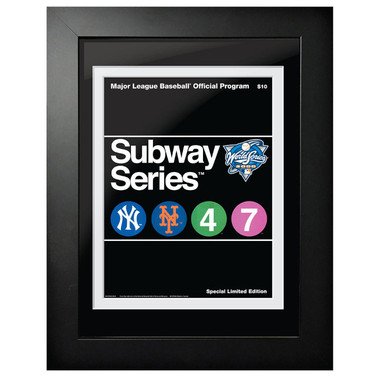 2000 World Series Program Cover 18 x 14 Framed Print - Subway Series