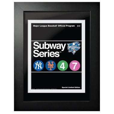 2000 World Series Program Cover 18 x 14 Framed Print - Subway Series