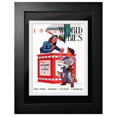 1942 World Series Program Cover 18 x 14 Framed Print # 1