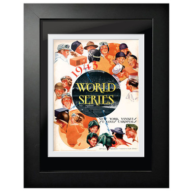1943 World Series Program Cover 18 x 14 Framed Print