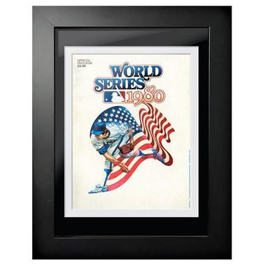 1980 World Series Program Cover 18 x 14 Framed Print