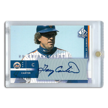 Gary Carter Autographed Card 2003 SP Authentic Chirography Lt Ed of 350